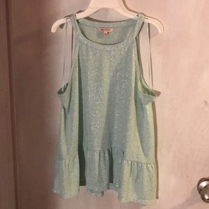Juicy Couture light blue green tank top